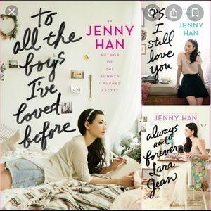 Lara jean books by Jenny Hahn 1-3